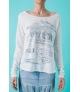 T-shirt manga larga con diseño corazón