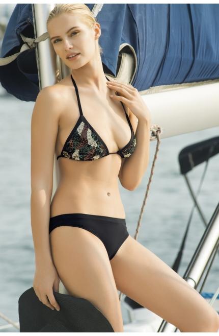 Bikini Touché Triángulo lentejuelas camuflaje