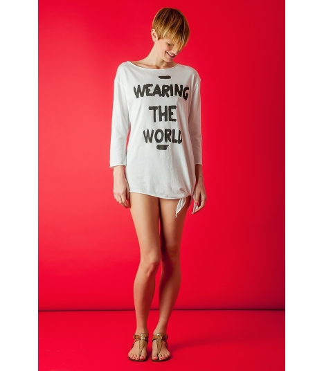 "T-Shirt manga larga ""Wearing the World"""