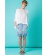 Blusa Oversize de Seda corte asimétrico