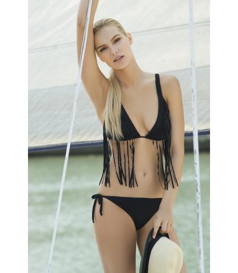 Bikini Touché triángulo flecos