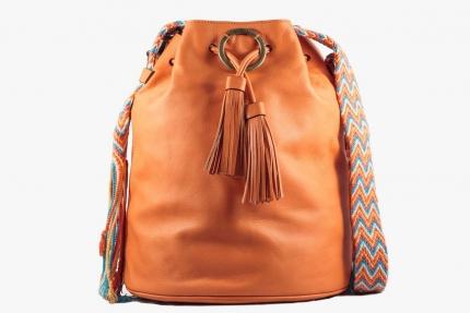 Wayuu Bolso AngieB Susuu - Piel Naranja