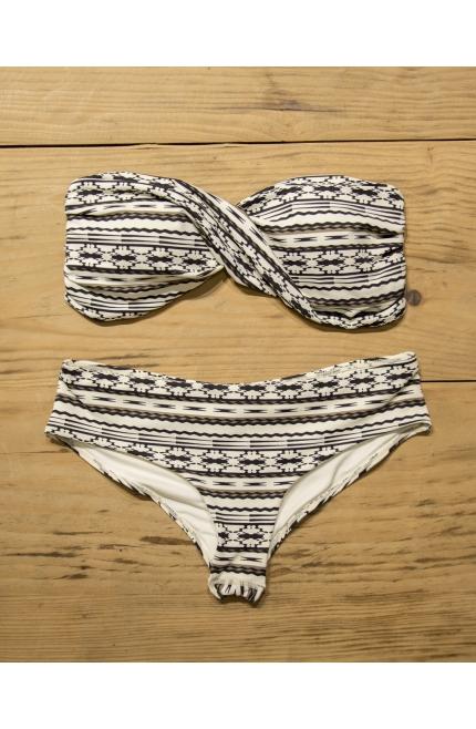 Touché Bikini Estampado Blanco y Negro