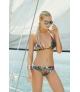 Bikini Touché triángulo estampado palmeras