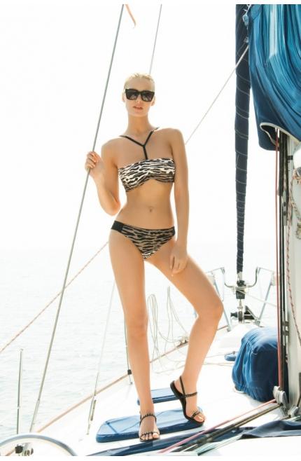 Bikini Touché bandeau estampado zebra
