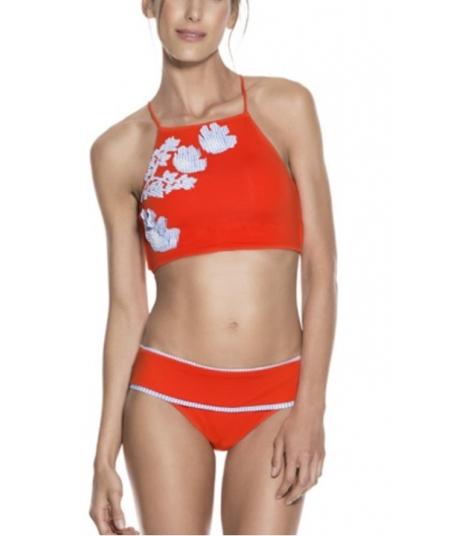 Bikini Onda de Mar deportivo coral
