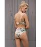 Bikini Bandeau Touché Estampado Tropical.