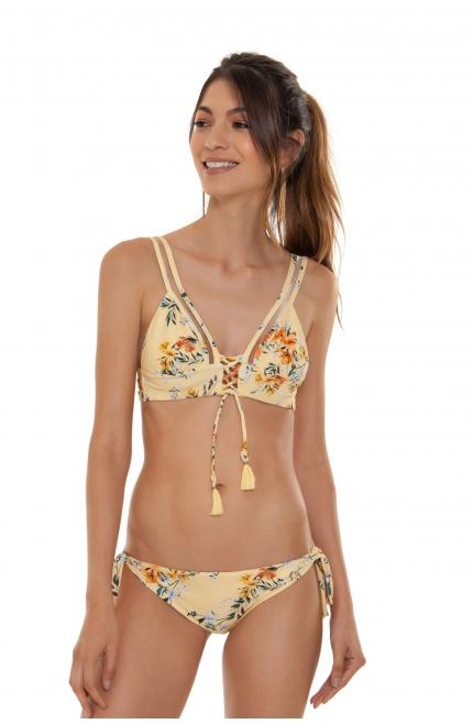 Bikini Triángulo Agua Bendita Estampado Floral.