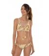 Bikini Triángulo Agua Bendita Estampado Floral Amarillo