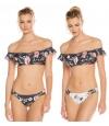 Bikini Reversible Agua Bendita Estampado Floral.