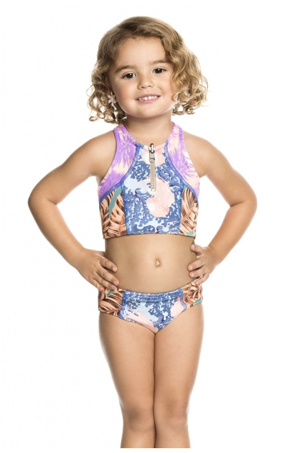 BIKINI MAAJI ESTAMPADO TROPICAL AZUL