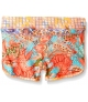 SHORT ESTAMPADO TROPICAL NARANJA MAAJI