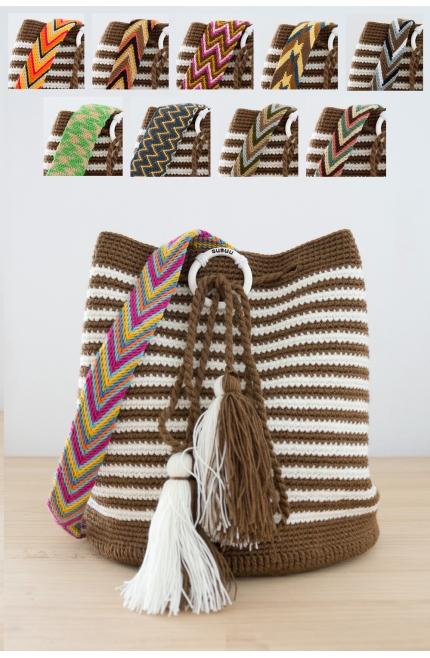 Bolso Wayuu con Correa Intercambiable