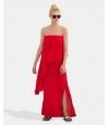 Touché Vestido Largo Rojo de Palabra de Honor