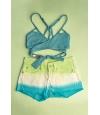CAJITA ESPECIAL: Top Bikini Maaji + Short Onda de Mar