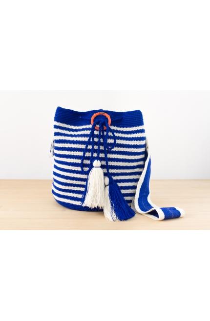 Wayuu Bolso Artesanal - Susuu Girls Marinero Azul