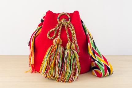 Wayuu Bolso Artesanal - Susuu Rojo