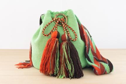 Wayuu Bolso Artesanal - Susuu Negro